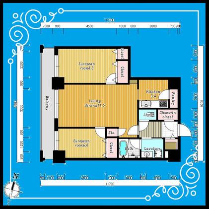 D'グラフォート札幌ステーションタワー511号室-D'GrafortSapporoStationTower-511