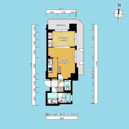 グランファーレ北24条ステーションサイド406号室-GranFareKita24jyoStationSide-406