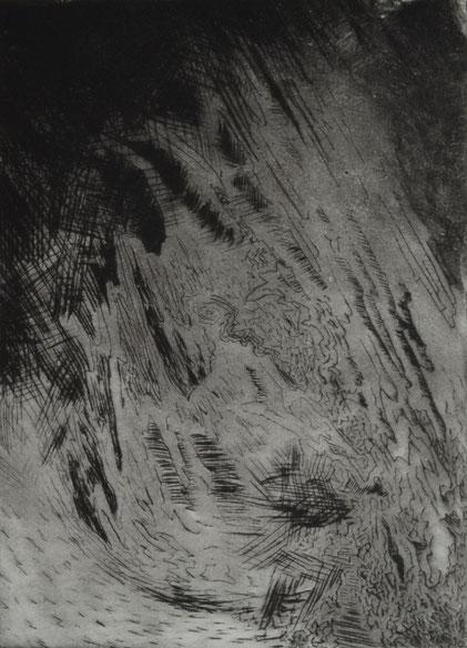 Verloren. 21 x 15 cm. Engraving print on paper. 2018