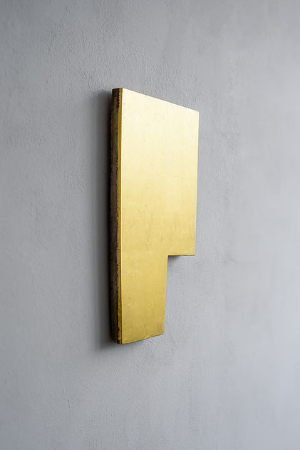 Andreas Keil, Malerei, SHAPE, 2020, Blattgold auf  Holz, Köln