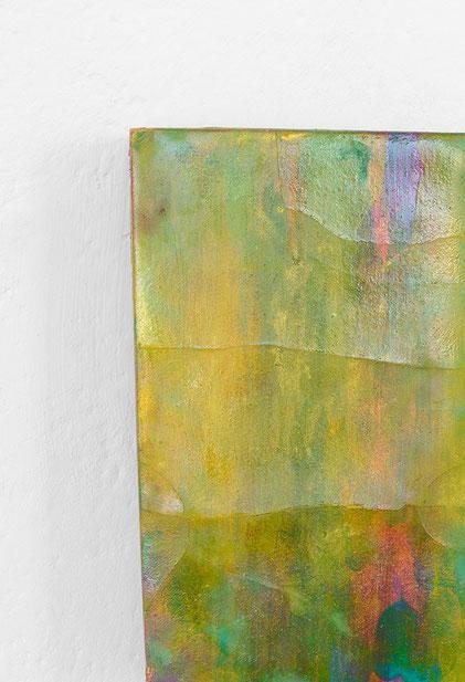 Andreas Keil, Malerei, O.T., 2015-18, Öl auf  Blattgold auf Holz, Köln
