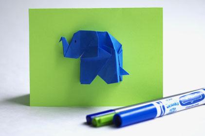 Carte à motif d'éléphant