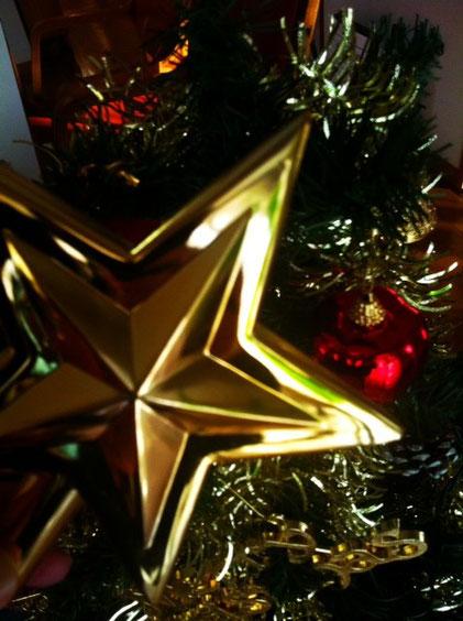 12月に入り石田家もツリーを出しました。 その日、家に帰ると哲平がトップスターを持って玄関に出迎えてくれ、「一番上!お父さん早くつけて~!」って。 そうなんです!クリスマスツリーのてっぺんの一番大きな星はお父さんが付ける役目! 哲平が生れてからだから7回目のトップスターになります。   *昔見た映画で僕はこのことを知りましたが、哲平はすでに刷り込まれているので、父親になったとき哲平もトップスターを飾りつけるんでしょう。。。