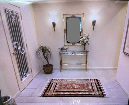 QUM silk  150x100 ザロニムサイズ HAYAT BAKHSH工房 お玄関がとても華やかになられました。とお喜びいただけました。
