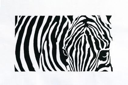 Zebra - für Rahmen ab 16x26 cm