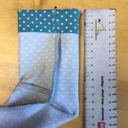 Katjuschka - Easy Socks - faules Bündchen Schritt 1
