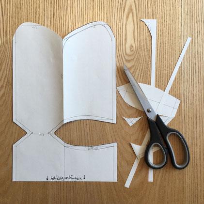Katjuschka - Easy Socks - Schnittmuster ausschneiden