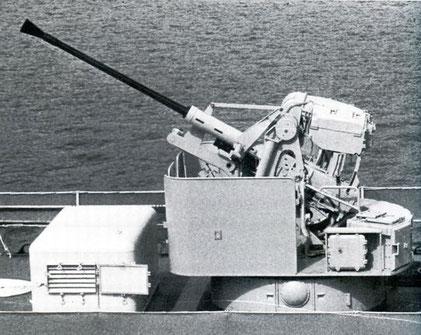 40 mm Bofors/L 70 MEL Mod 71 - Foto: Killi: Die Schnellboote der Bundesmarine