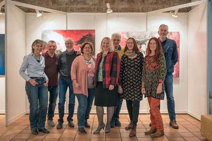 Teilnehmer  und Dozent des Workshop 'Kunst ansprechend fotografieren'