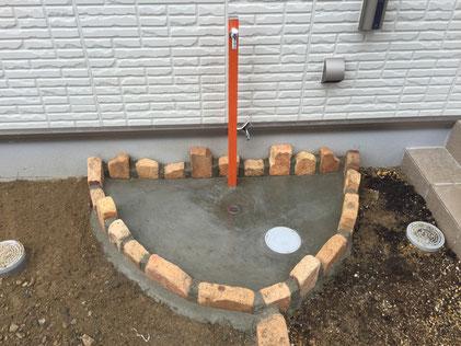 オシャレな立水栓 立水栓の取り換え