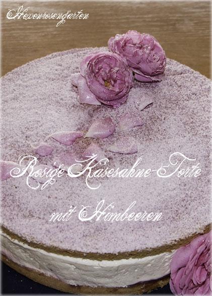 Rosen Hexenrosengarten Rosenblog Duftrosen  Bourbonrose Louise Odier Torte Rosentorte Verzuckerte Rosenblüten