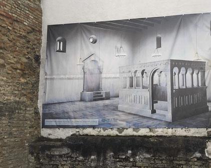 Rekonstruktion Innenraum Synagoge Speyer