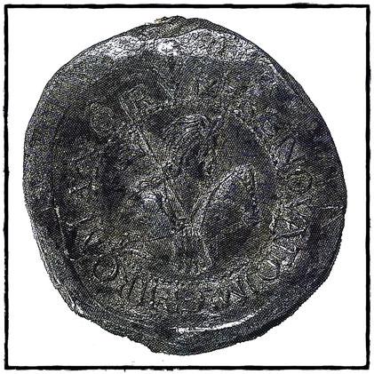 Kaiserbulle Ottos III. Rückseite
