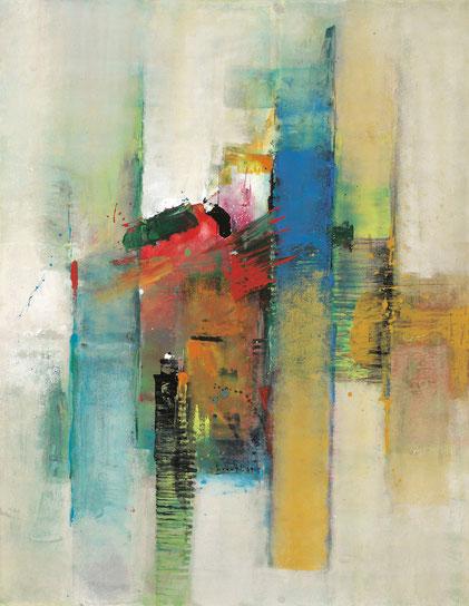 Sinasi Bozatli, Venice Impressions, Acryl auf Leinwand, 2019, 116 x 91 cm