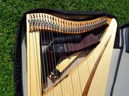 Harp bag for travel harp Luna