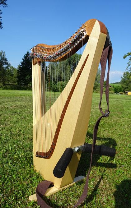 Harfe zum Umhängen, Reiseharfe