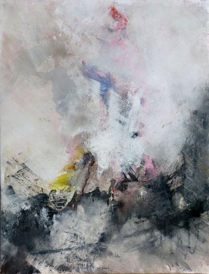L'hameçon. Acrylique sur toile Dim 116cmx89cm