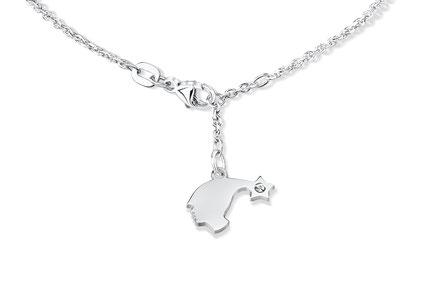 """Zartes Armkettchen aus Silber mit Anhäger Diamant """"I am Bebigirl"""""""