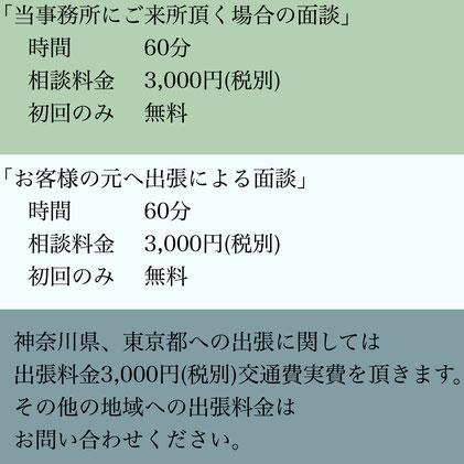 各種在留資格(ビザ)申請・帰化許可申請(日本国籍取得)等ご相談にかかる費用・お客様のご指定場所まで行政書士出張によるご相談も歓迎致します。