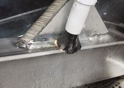 WE KEM -  Pennello in fibra di carbonio pulizia decapaggio saldature acciaio inox