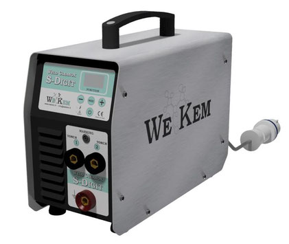 sistema elettrochimico invert digitale con display multilingua decapaggio pulizia saldature inox
