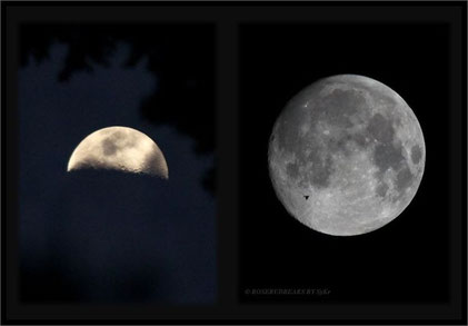 Der nahe Mond in den letzten Tagen - bei klarem Himmel
