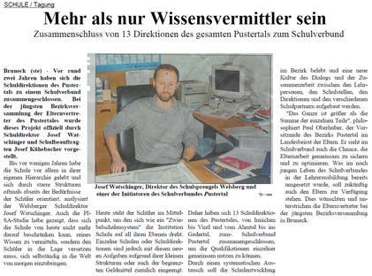 Dolomiten 2002 Schulverbund Pustertal