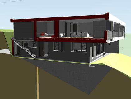 Vertikalschnitt, 3D Modell - 1