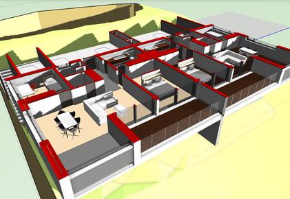 Horizontalschnitt, 3D Modell - Ebene 1