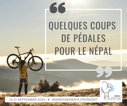 quelques coups de pédales pour le népal