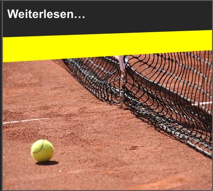 VfL Altenhagen Tennisball vor Tennisnetz