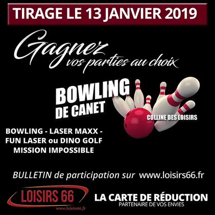 Concours Loisirs 66 gagnez avec Bowling de Canet