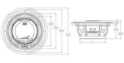 Skizze Maße Audiofrog GS62