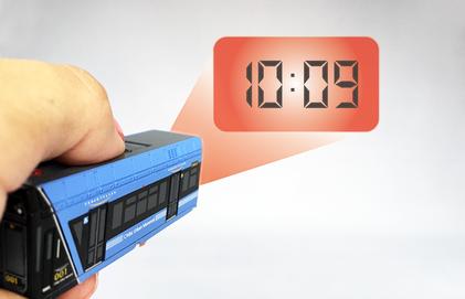 クロックキーライト オリジナル型 時計投写イメージ