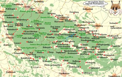 Klick an! -Interaktive Karte!  Quelle:http://www.karte.harz-urlaub.de/