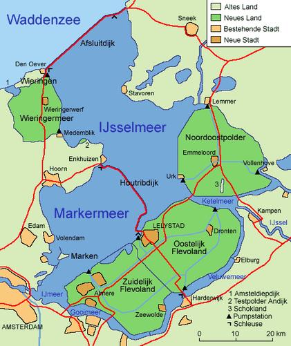 Ijsselmeer - Quelle: Wikipedia