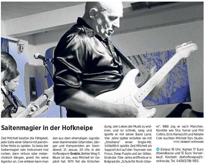 Kieler Nachrichten/Ostholsteiner Anzeiger, 18.1.2017