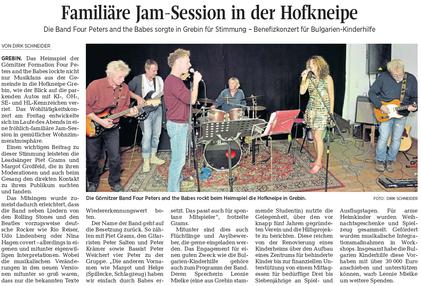Kieler Nachrichten/Ostholsteiner Anzeiger, 10. Oktober 2016
