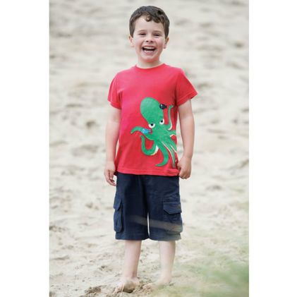 Red Octopus T-Shirt for Boys