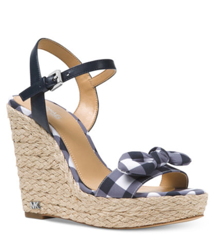 Gingham Wedge Sandal #sandal #shoes #summer #beach #wedge