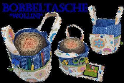 Handarbeitstasche, Knooking Bag, Stricktasche, Wollkorb, Knit to go, Nadeltasche