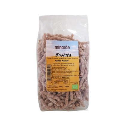 Busiate siciliane Minardo Pasta bio integrale