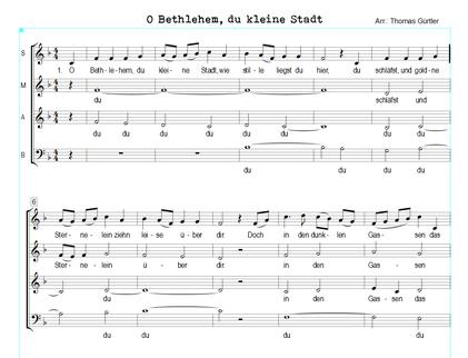 O Bethlehem, du kleine Stadt