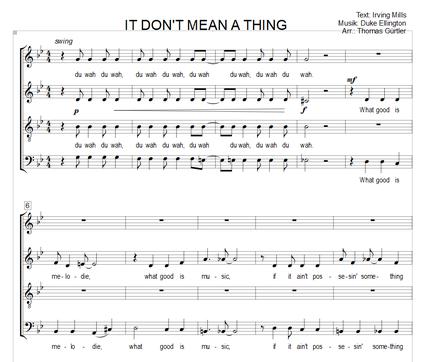 It Don't Mean A Thing - I. Mills, D. Ellington