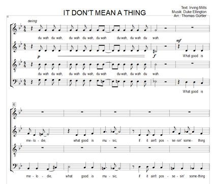 It Don't Mean A Thing - I. Mills, D. Ellington