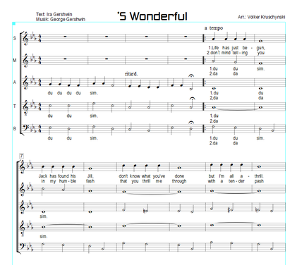 'S Wonderful - Gershwin