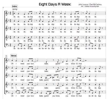 Eight Days A Week - Lennon, McCartney