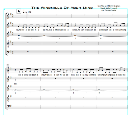 The Windmills Of Your Mind - Legrand, Bergmann
