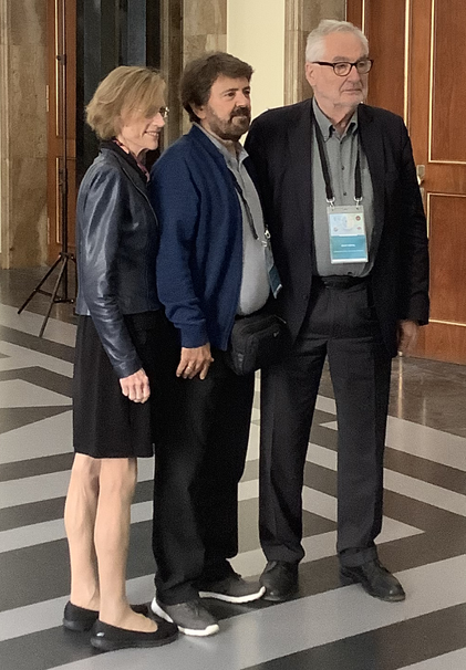 Picture of Prof. Dr. Ernst Poeppel, Prof. Ann Graybiel and Prof. Nikos Logothetis