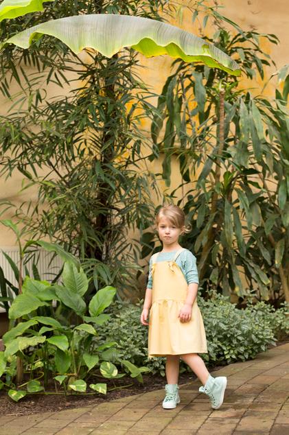 Kinderltzkleid aus Bio Chambray zum mitwachsen